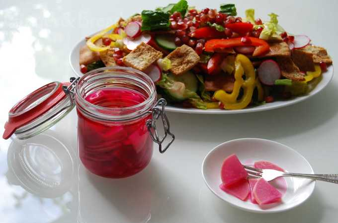 Pickled Turnips, Turkish Style