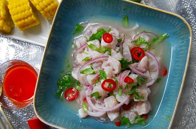 Simple Sea Bass Ceviche