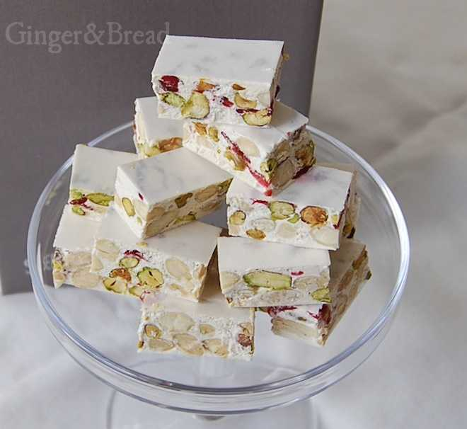 Nougat de Montelimar close up