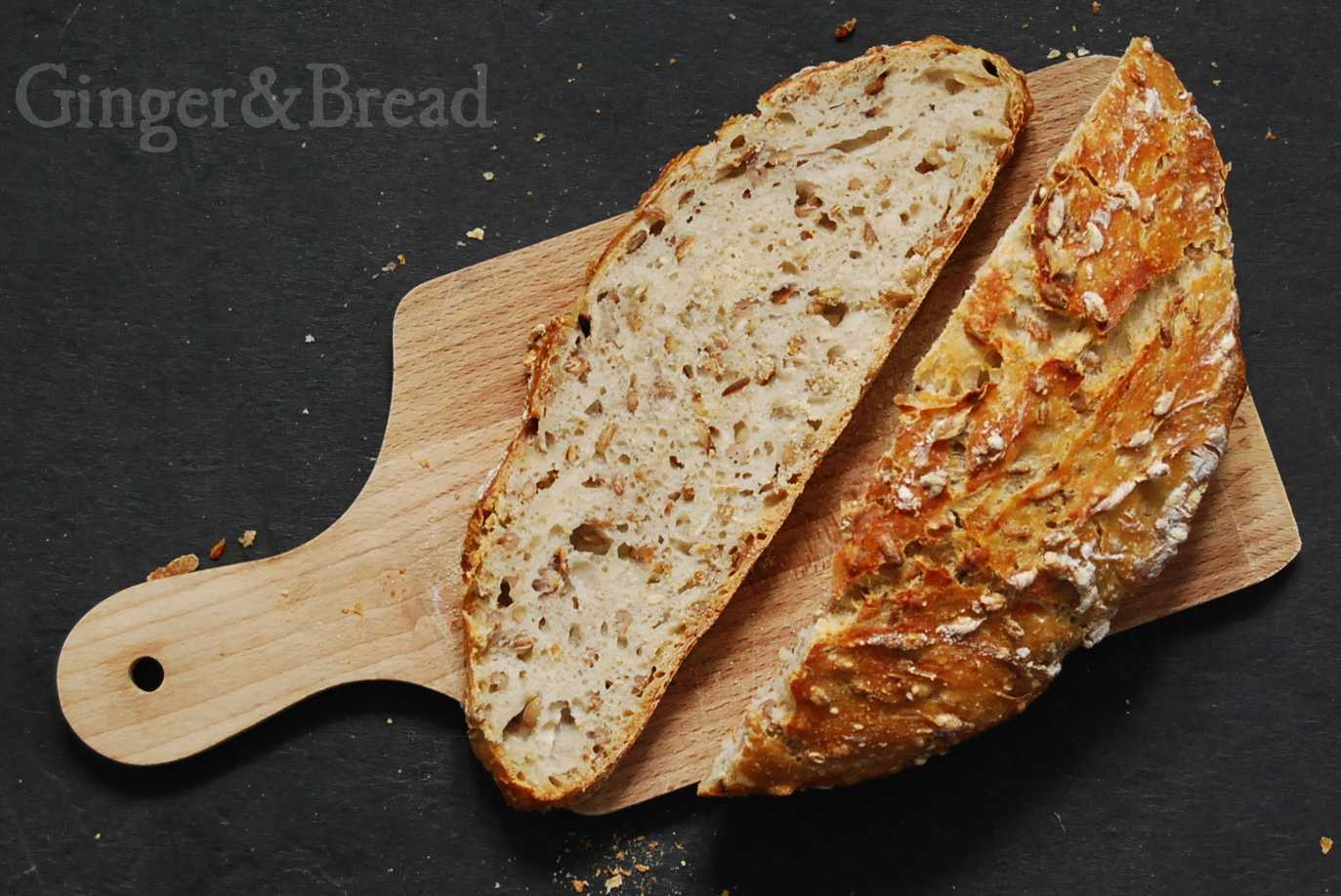 Wheat, Rye and Spelt crust and texture