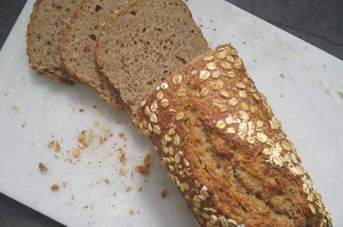 Four-grain Fun: a rustic sourdough loaf