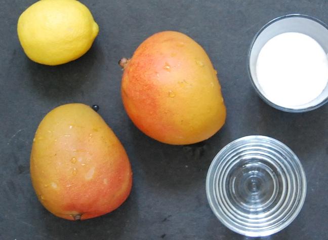 Mango sorbet ingredients