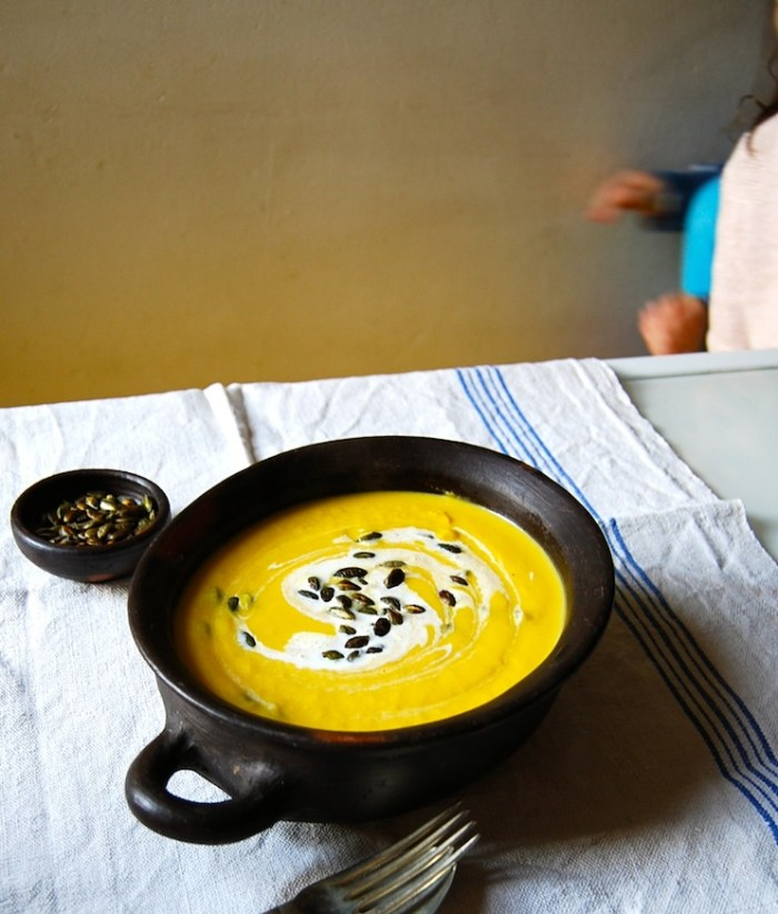 pumpkin soup and hungry children
