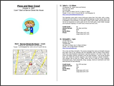 Pizza and Bar Crawl - Page 1