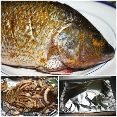 Emirati Recipe: Baked Fish (Sa-mak bil fern)