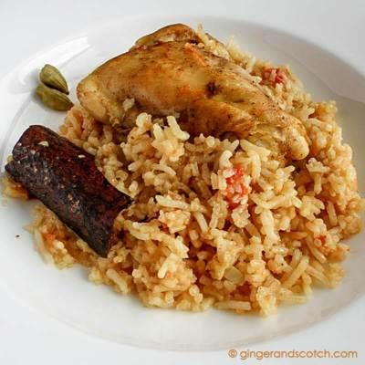 Emirati Recipe: Chicken and Rice  (Machboos / Fogga Dejaj)