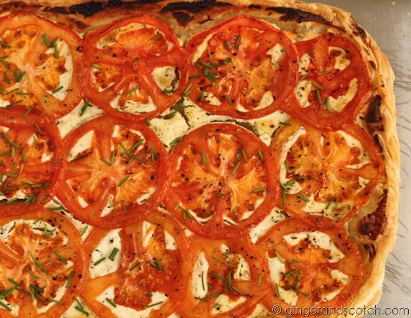 tomato goat cheese tart