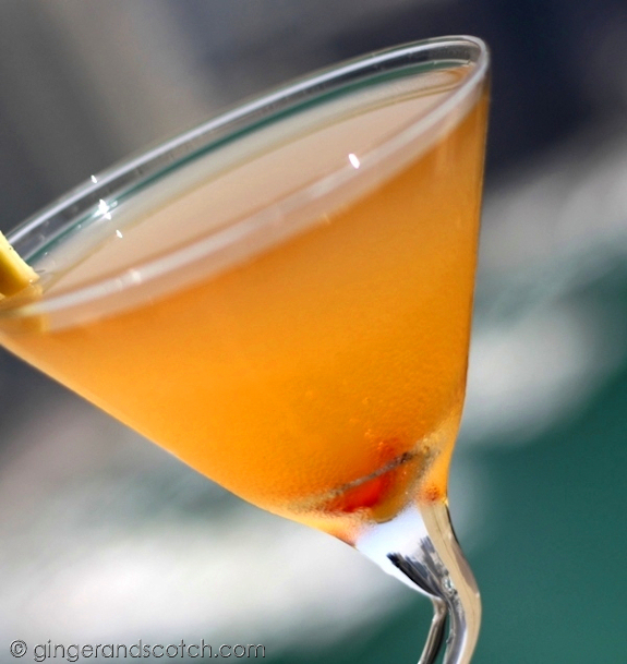 Ginger and Scotch Chilli Martini