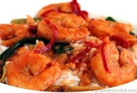 Ginger and Scotch Chilli Prawns
