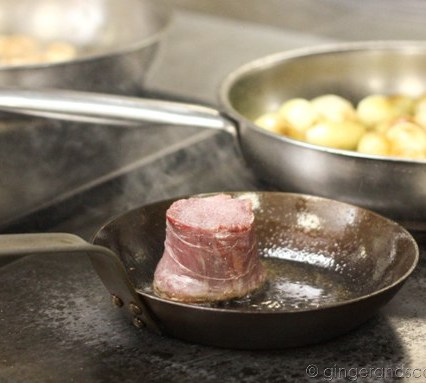Searing the fillet