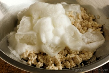 Ground Chicken and Whipped Egg White