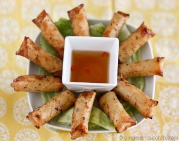 Chicken Curry Vietnamese Spring Rolls