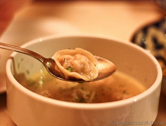 Pelmeni soup