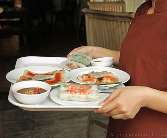 Server bringing food