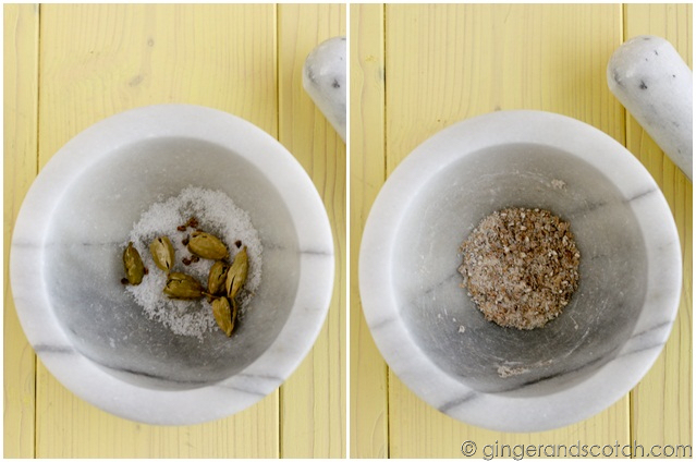 Ground Cardamon and Sea Salt