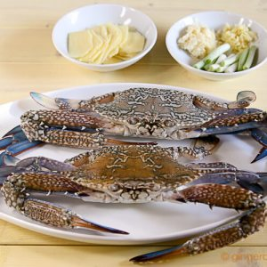 Crabs Stir-Fried with Ginger and Scallion