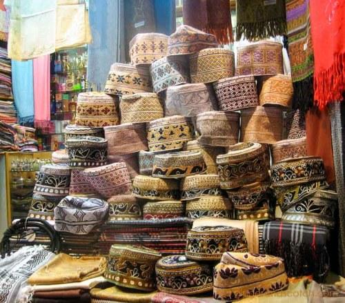 Muscat - Al Mutrah souk - Kuma headdress
