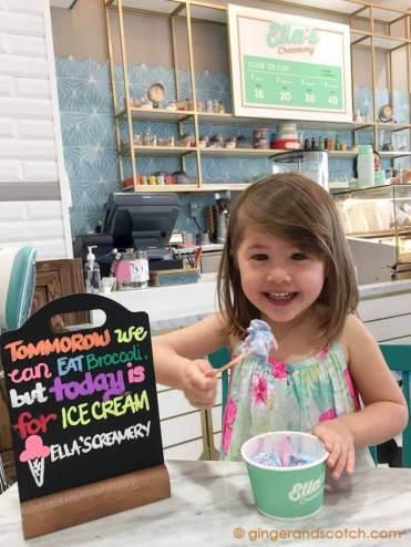 Unicorn Ice Cream @ Ella's Creamery