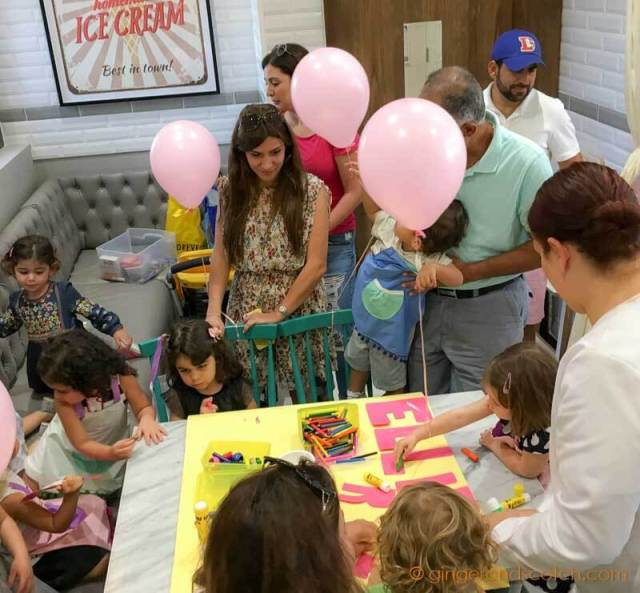 Arts and Crafts at Ella's Creamery in Dubai Parks