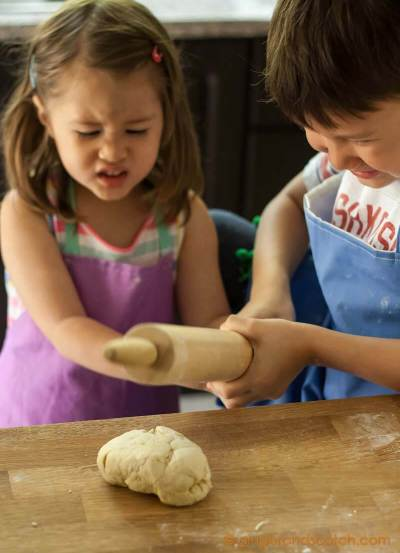 Having fun with ramen dough
