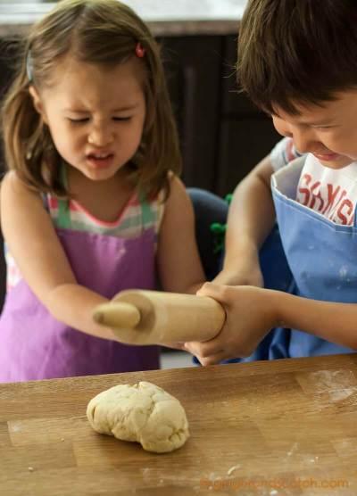 Having fun with ramen dough