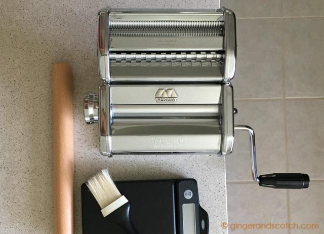 The Marcato Atlas 150 pasta machine is perfect for making Asian noodles