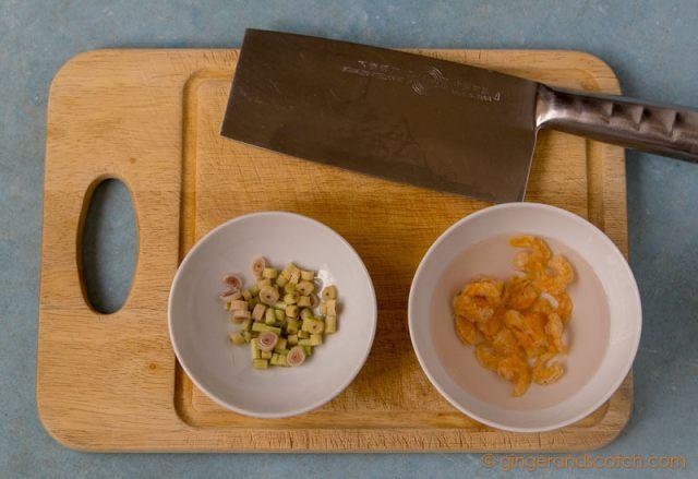 Prepping Vietnamese Sate Ingredients