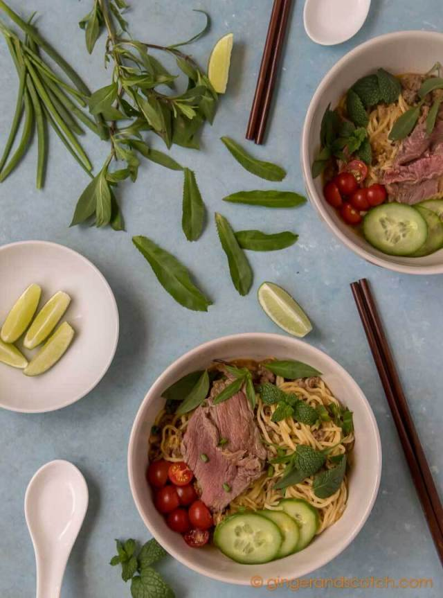 Vietnamese Spicy Beef with Noodle - Mi Bo Sate