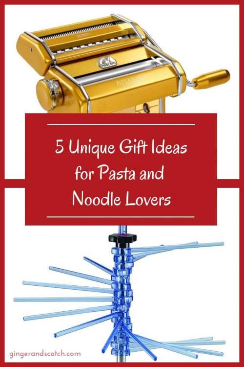 Unique Pasta and Noodle Gift Ideas (Plus bonus stocking stuffer ideas)