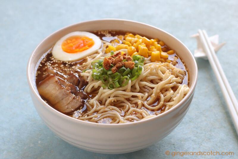 Tonkotsu Ramen with Instant Pot Pressure Cooker