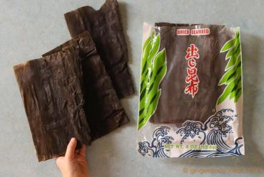 Kombu (or Konbu) for making dashi