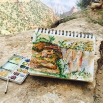 Painting the Canyon -one of the highlights of my trip