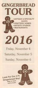 Gingerbread Tour 2016 Brochure front
