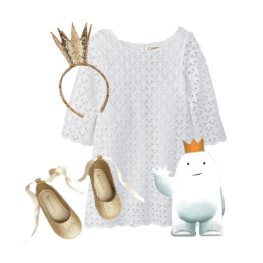 "Adorable little girl's outfit inspired by Dan Santat's gorgeous illustrations in ""Beekle"""