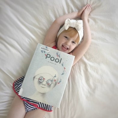 Vintage Inspired Swimsuits and Swimming Cap for Toddler Girls