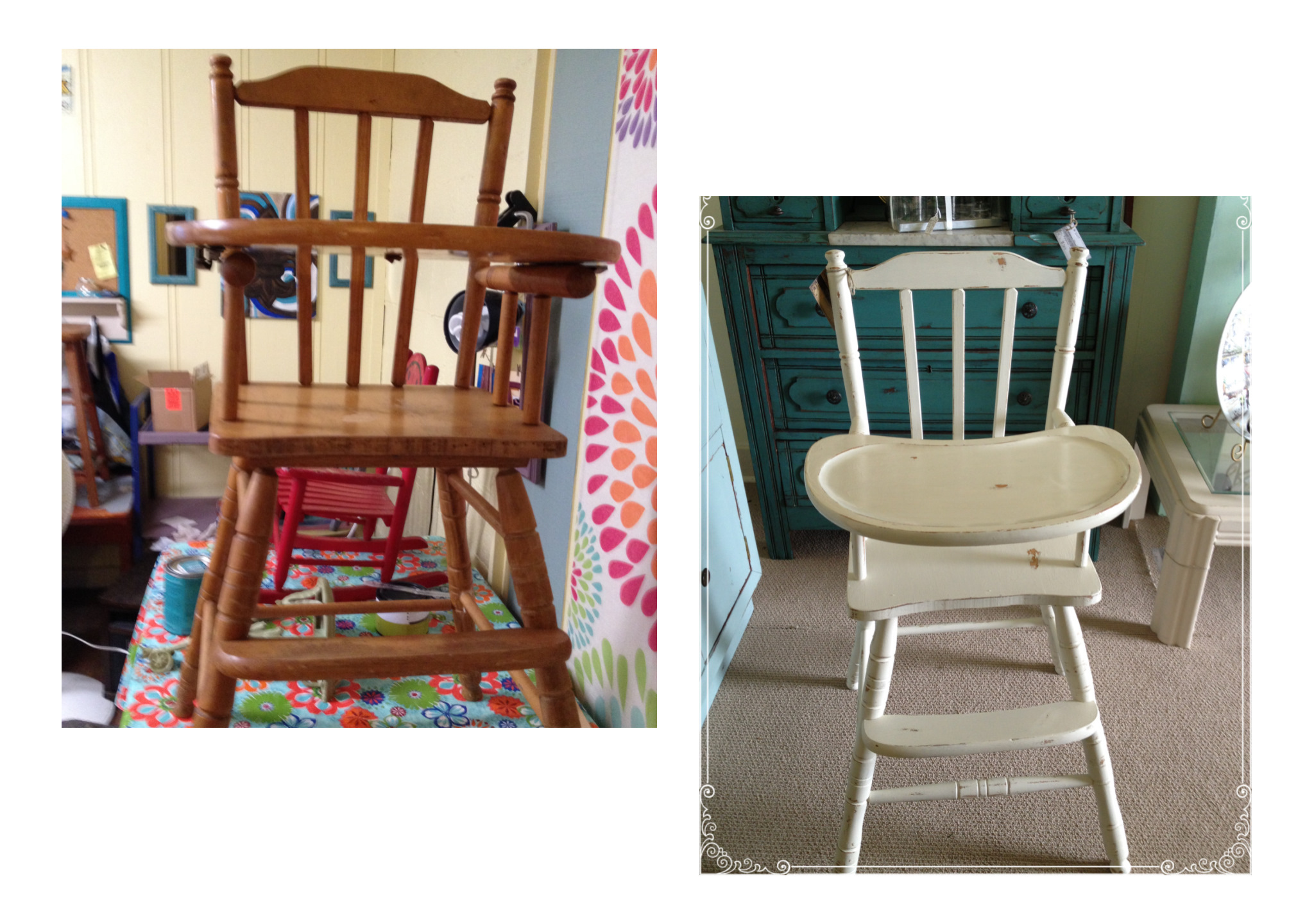 wood high chair for sale jcpenney dining room covers vintage wooden baby ginger 39s attic