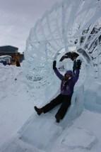 Stephanie on the slide!