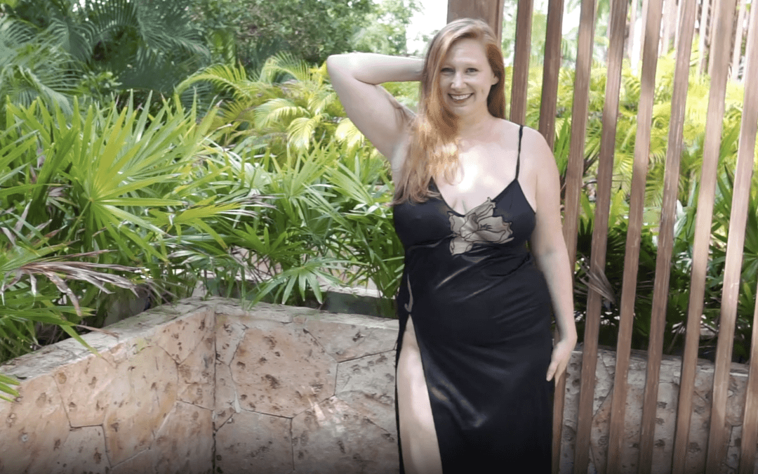 May 2021 | Black High-Slit Nightgown on Patio