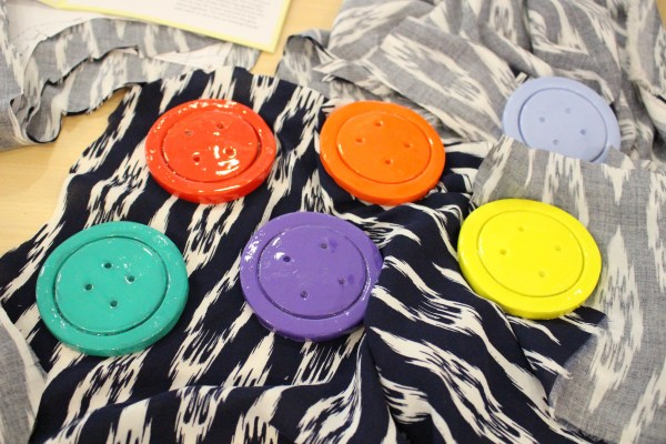 How beautiful are these pattern weights made by Rach from Rach Against the Sewing Machine?!