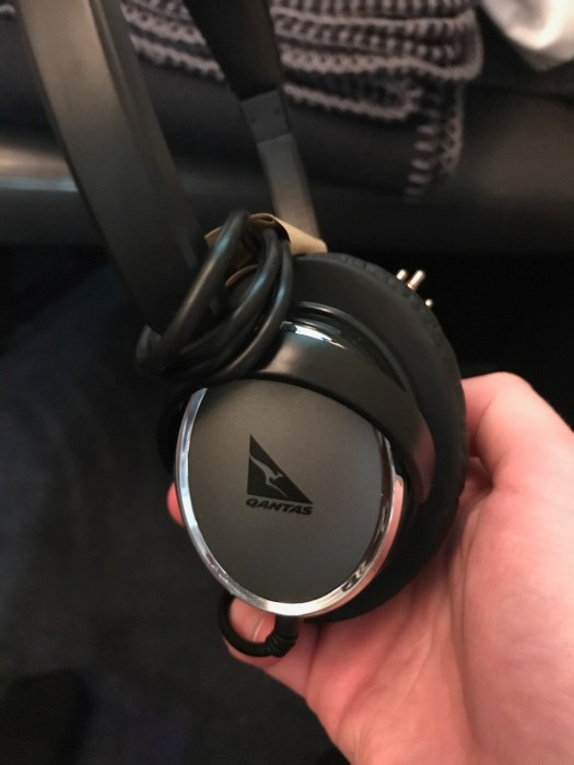 Qantas A380 first class noise cancelling headphones