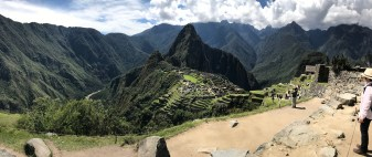 View over the Machu Picchu site