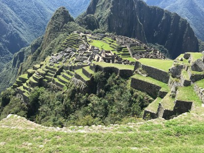 The terraces at Machu Picchu