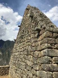 A house end wall at Machu Picchu