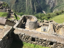 View of the temple from above at Machu Picchu