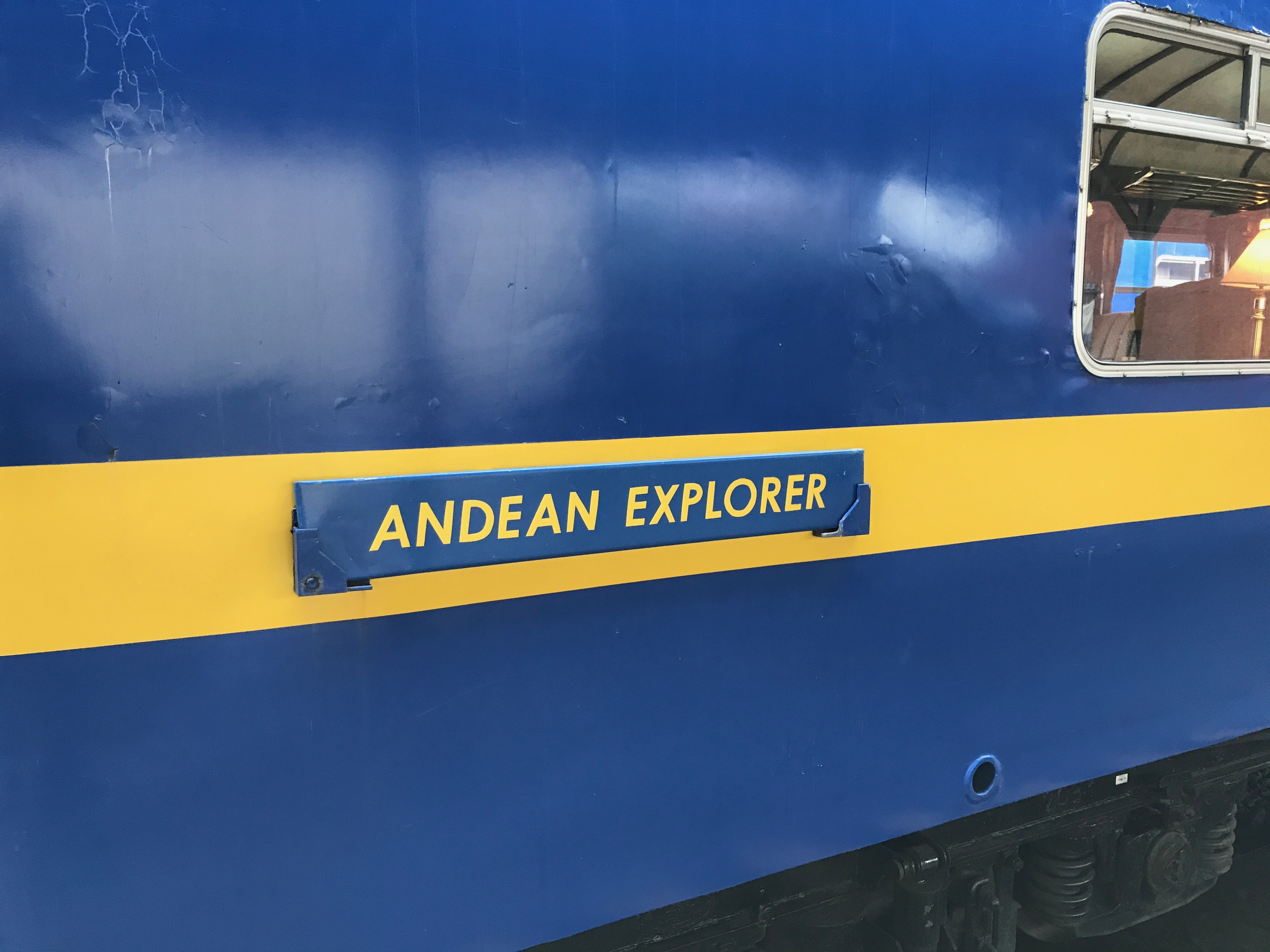 Andean Explorer sign