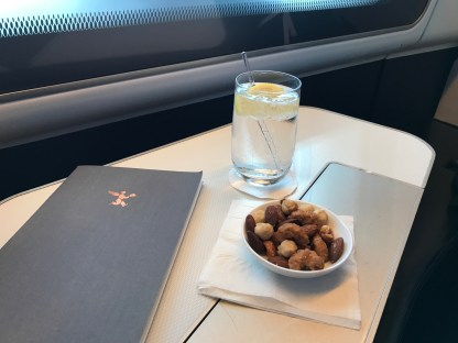 British Airways first class beverage