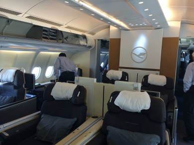 Lufthansa First Class Cabin on the A330-300