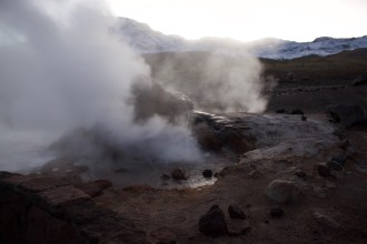 An active pool in the Tatio geyser field