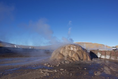 A sulphurous mound in the Tatio Geysers