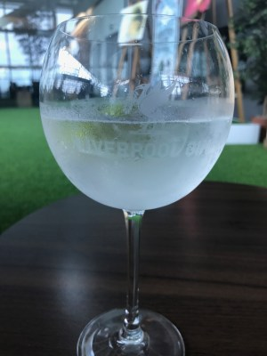 Liverpool Gin and Tonic in the British Airways Galleries First lounge